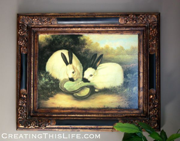 P Rolence Rabbits rabbit oil painting | ...