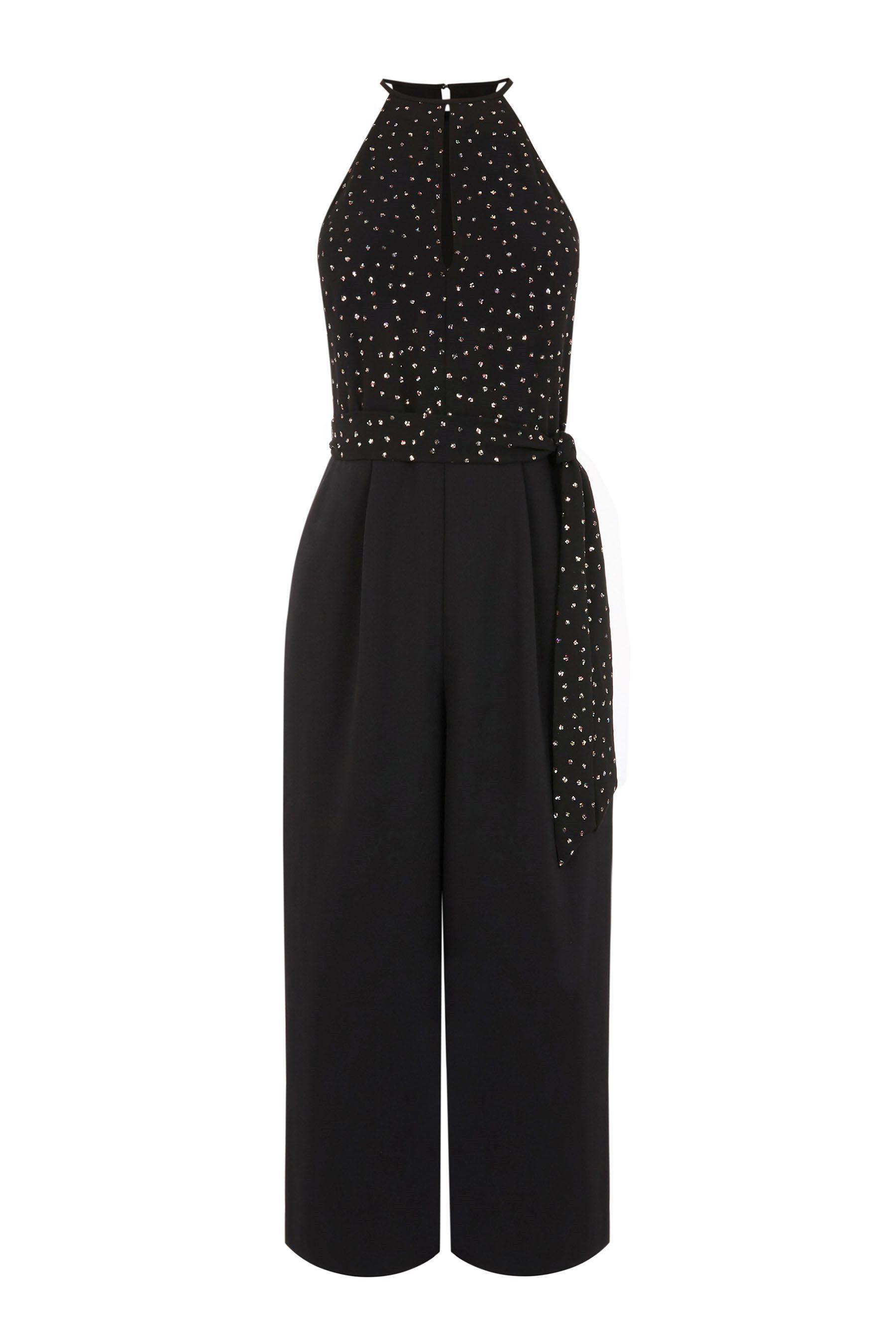 f6d75da1ad4 Womens Oasis Multi Glitter Spot Jumpsuit - Natural