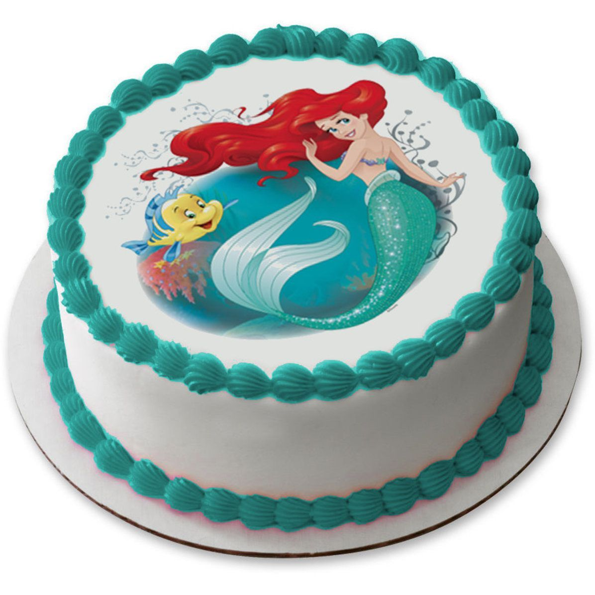 Русалочка ариэль картинка для торта