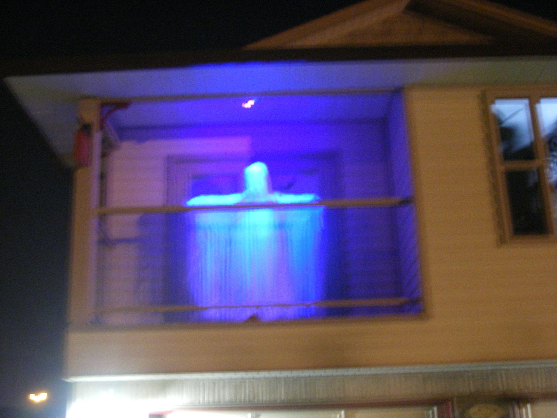 ghost on the balcony my halloween decorations props halloween rh pinterest com