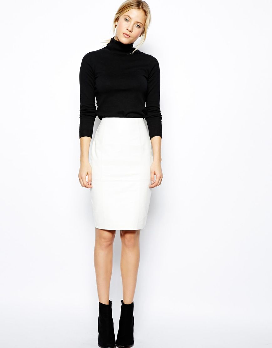 0f7dd1503846 Leather Pencil Skirt In Knee Length | My Style | Pencil skirt ...