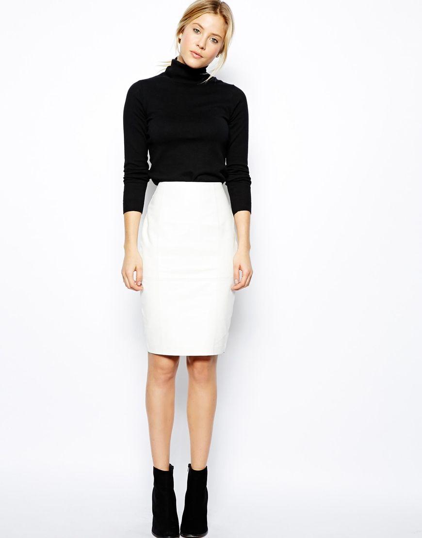 ASOS Pencil Skirt In Leather | Skirtsss | Pinterest | Pencil ...