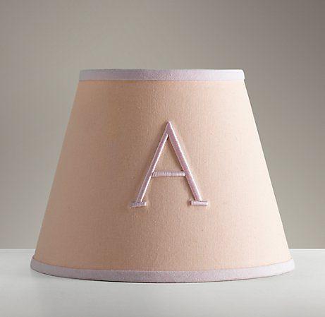 Lampshades monogrammed....