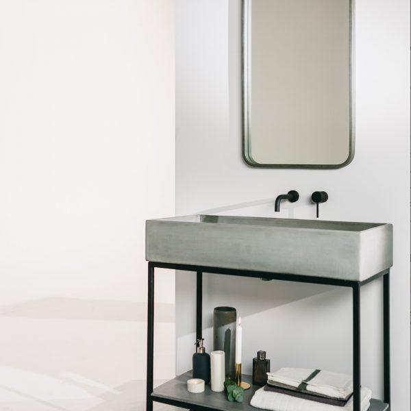Concrete Mirror The Zia Nood Co Concrete Sink Sink Concrete Bathroom