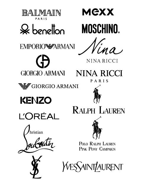 Free Logo Balman Mexx Benetton Moschino Emporio Armani Nina Ricci Giorgo Armani Kenzo L Oreal Ralph Lauren Hri Clothing Logo Brand Symbols Nina Ricci