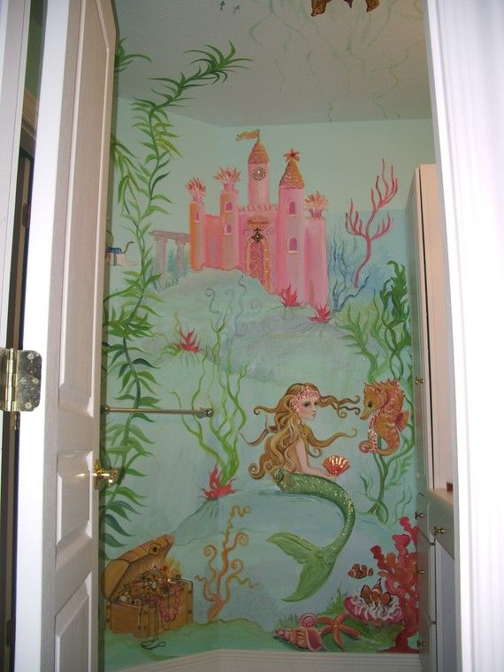 wall murals Mermaid mural painting custom by ...