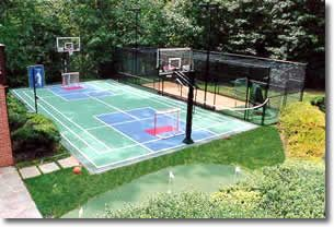 I want a sport court ideas for home pinterest for Backyard sport court ideas