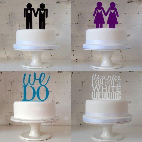 Same Sex Wedding Cake Topper Miss