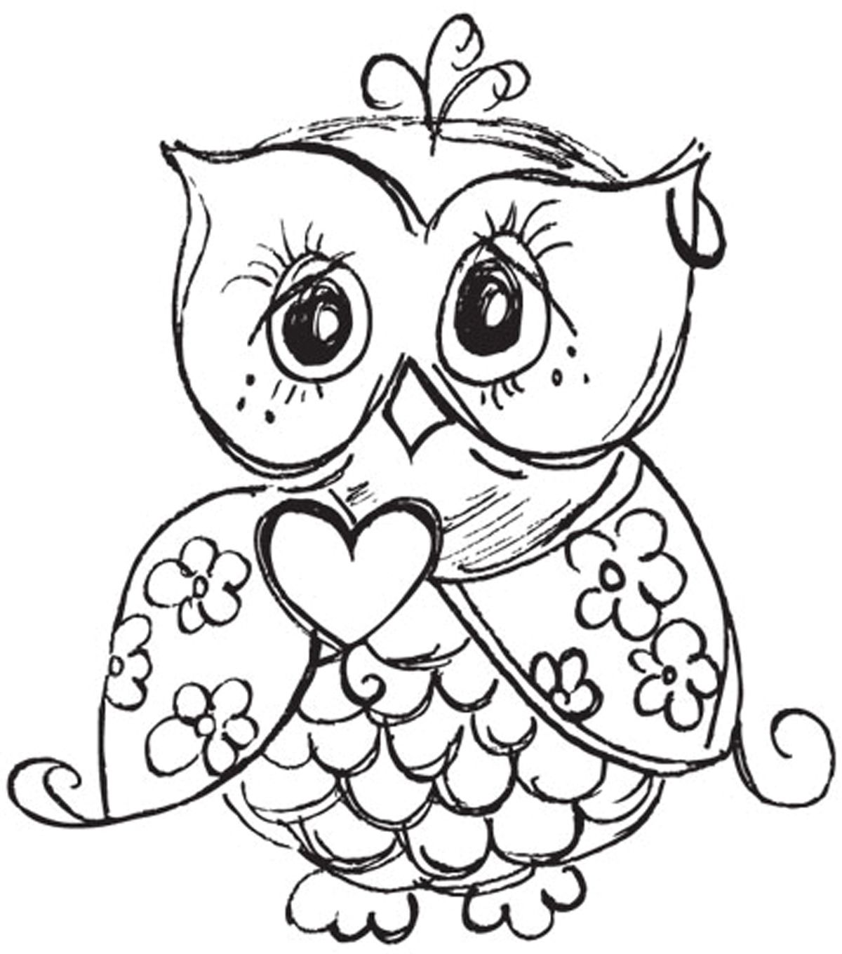 Mini Clear Stamp 3 Quot X5 Quot Owl Owls Owl Coloring Pages