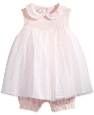 6980c1be255 First Impressions Eyelet   Tulle Romper