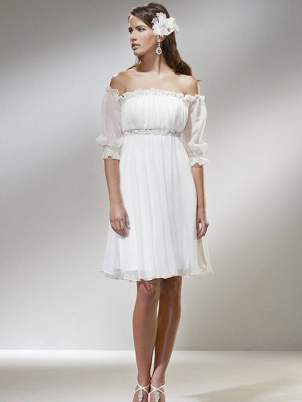 Informal Short Wedding Dresses Casual Short Wedding Dresses With