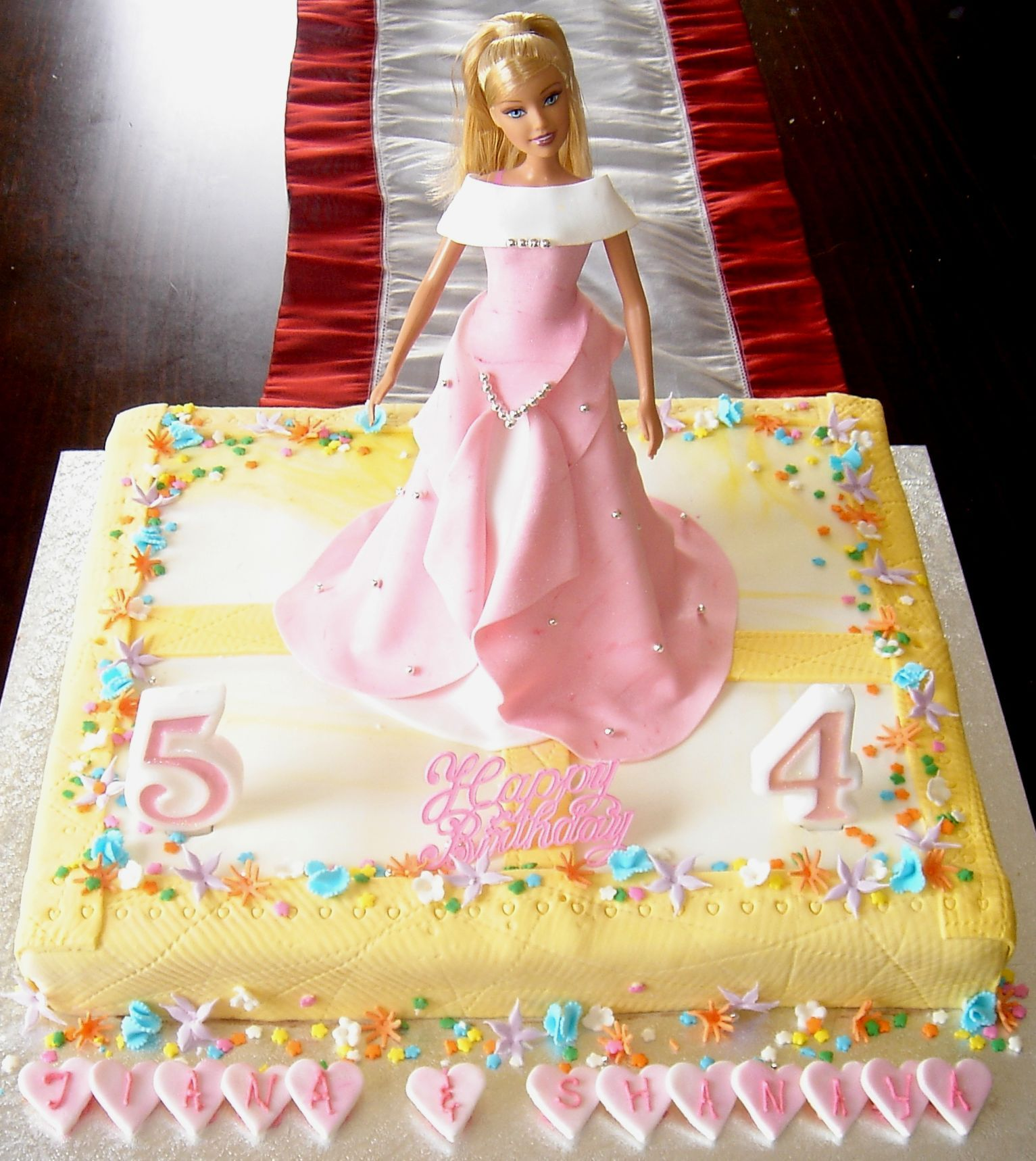 Barbie Sheetcake With Images Barbie Cake Doll Cake Birthday