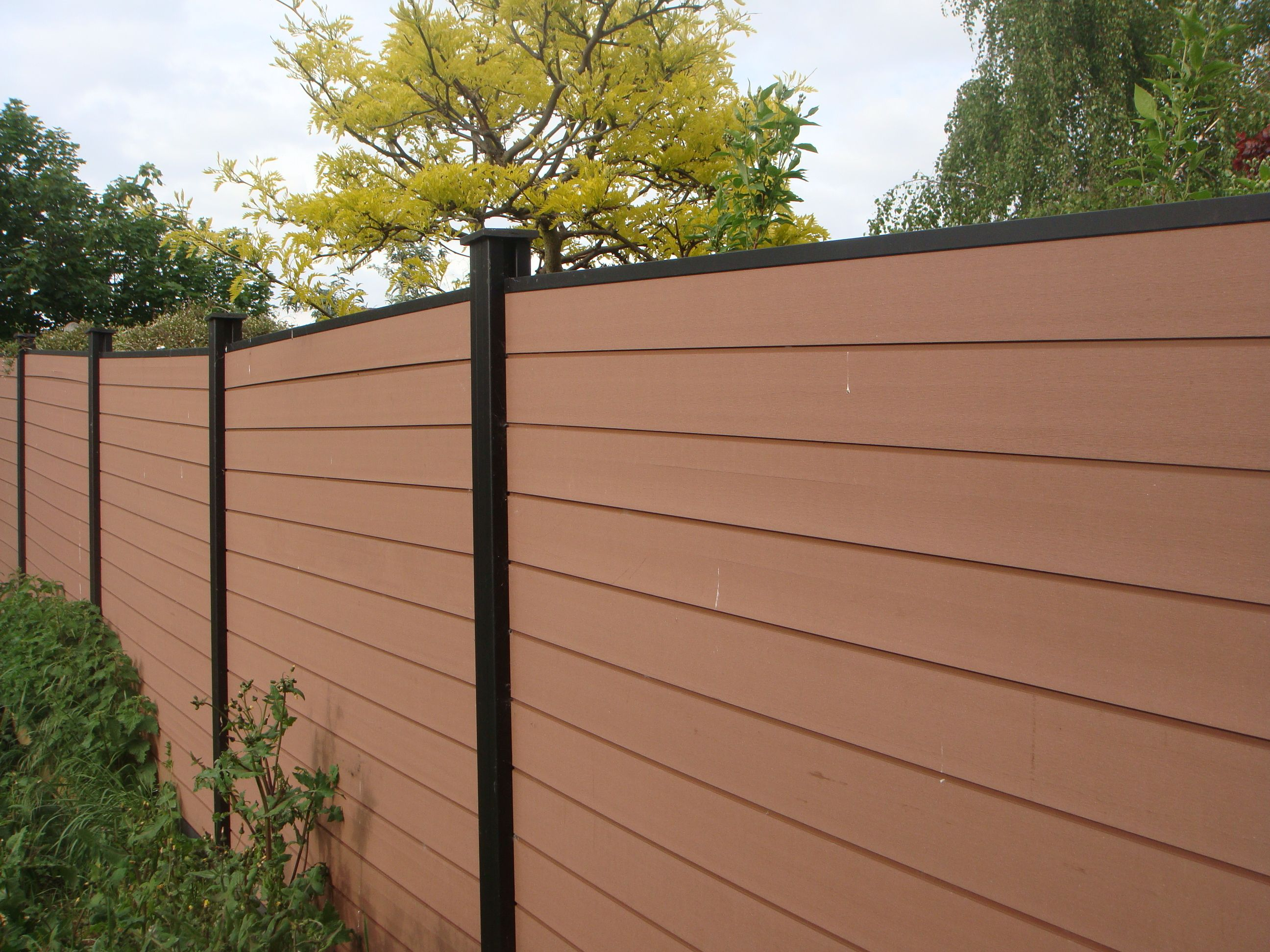 Gardens Fence Panels For Countryside , Wood Plastic Fence For Sale In Spain