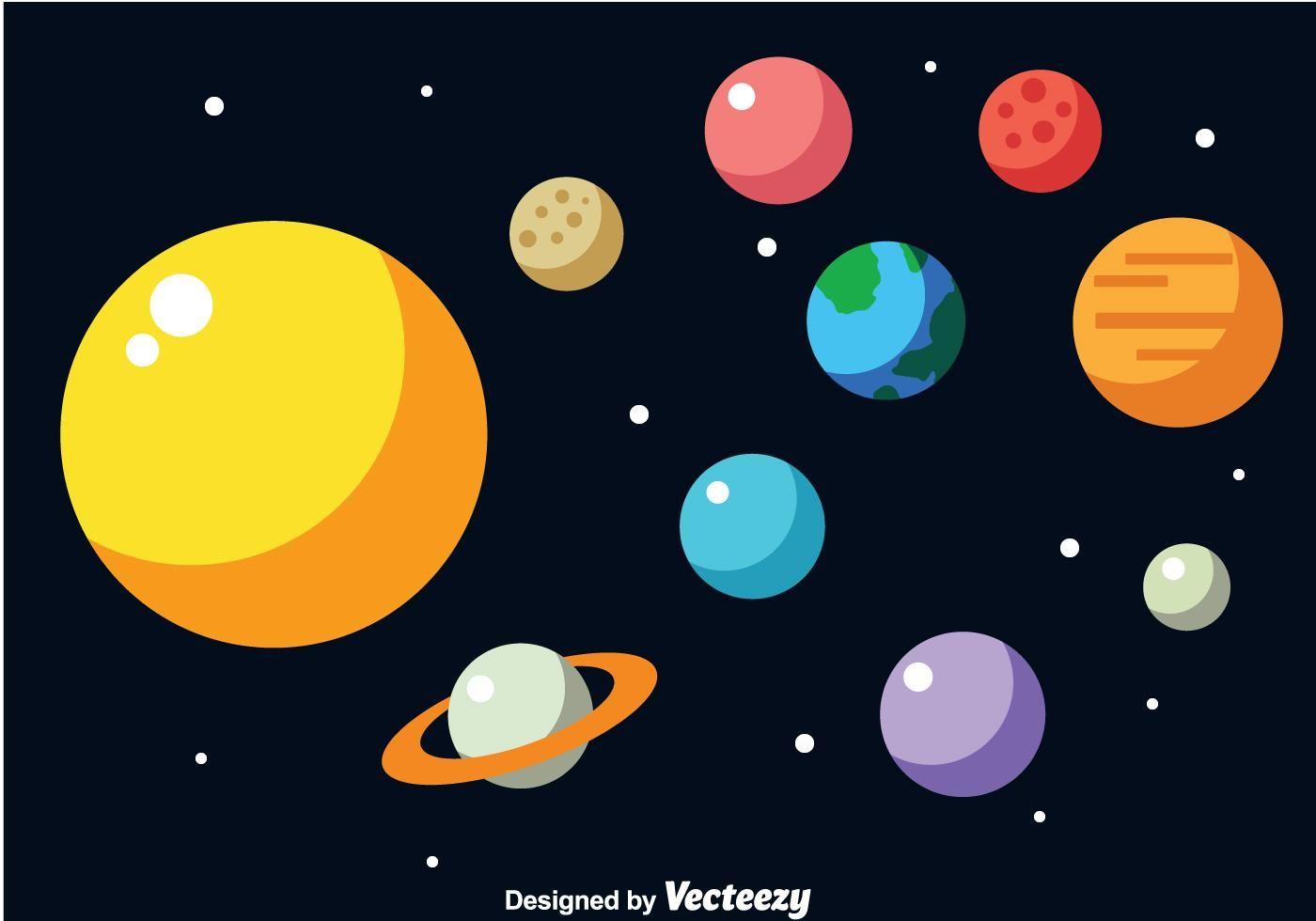 Solar System Vector Vector Art Design Planet Drawing Solar System Clipart