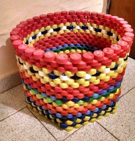 Plastik Kapaklarla Yapabileceğiniz Harika Fikirler #recycledcrafts