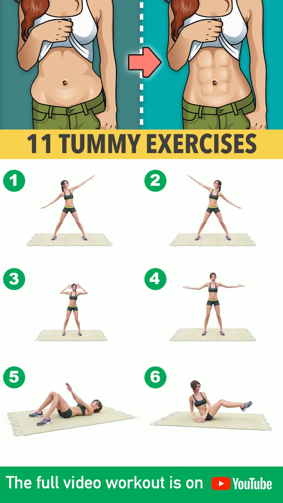 Tummy Tightening Exercises At Home- workout from home