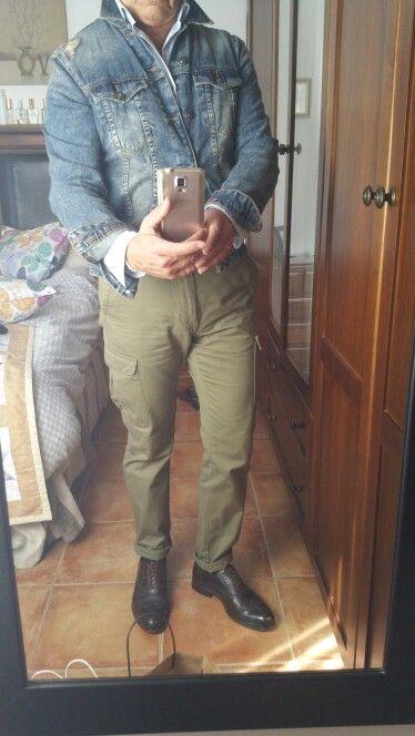 Denim cargo cadual | Moda casual masculina, Moda casual, Moda