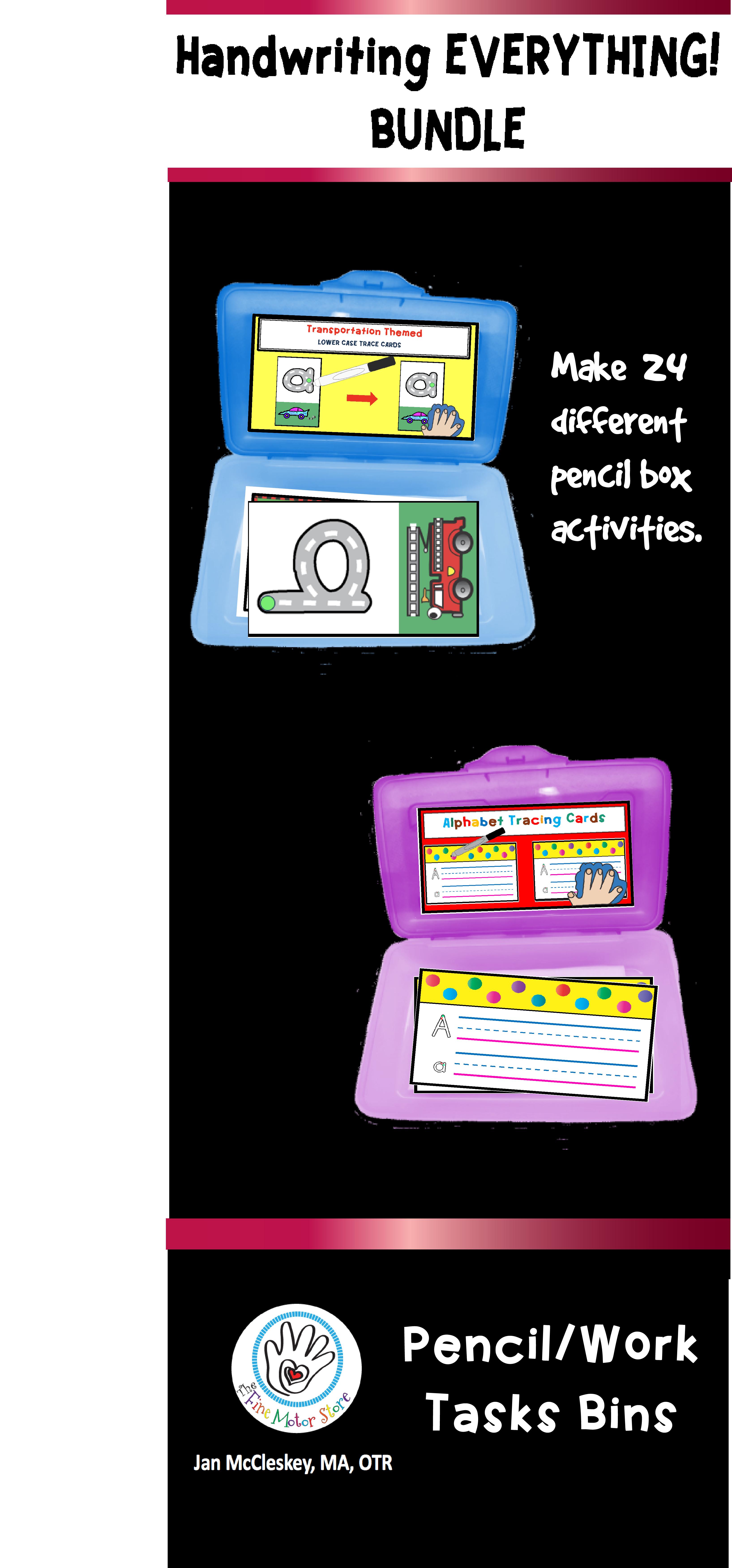 Handwriting Practice Activities In A Pencil Box Bundle