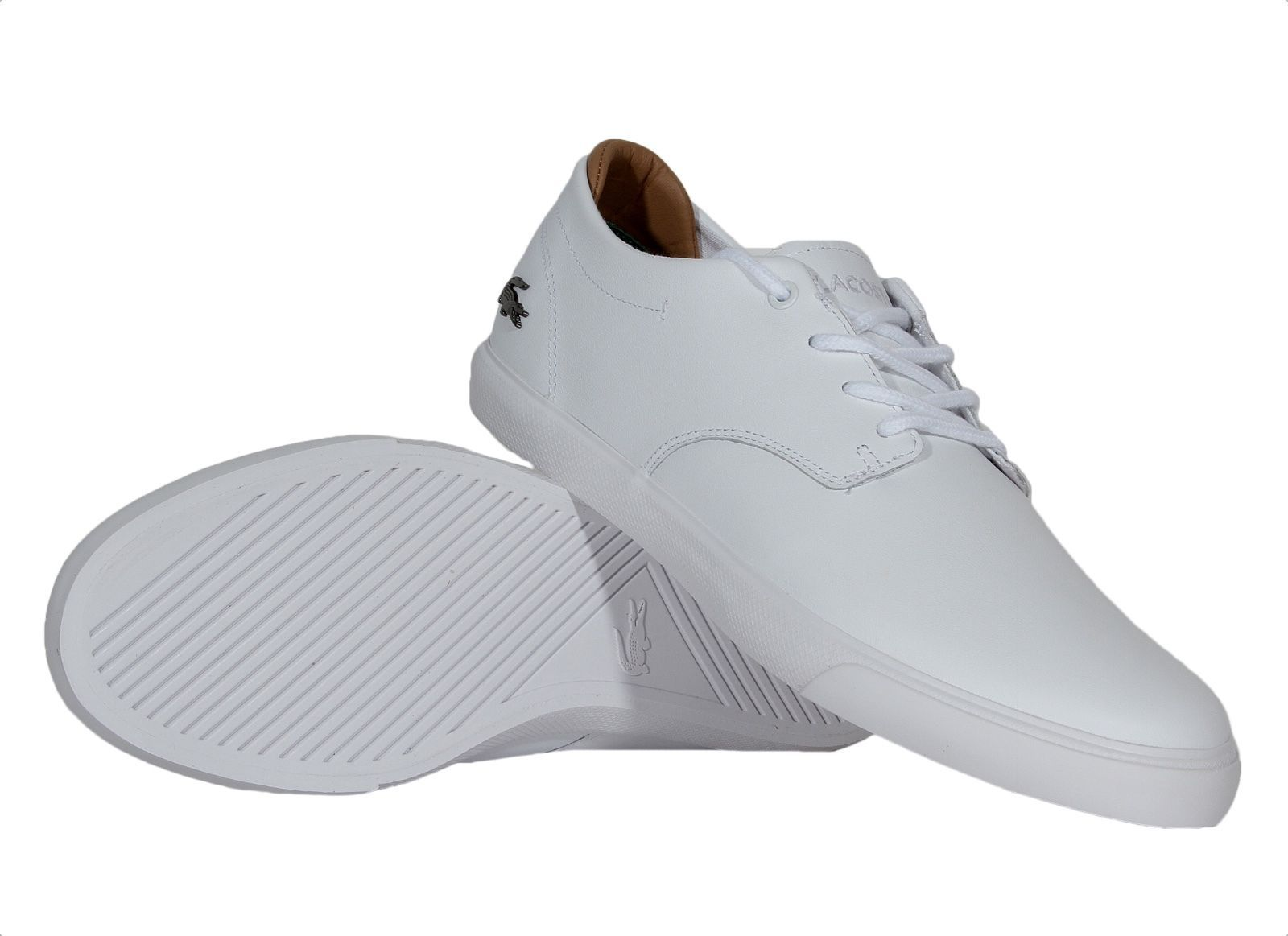 86b8dd51d51f6c Lacoste Mens Shoes Espere 117 1 CAM Leather Sneakers 7-33CAM1040001 White