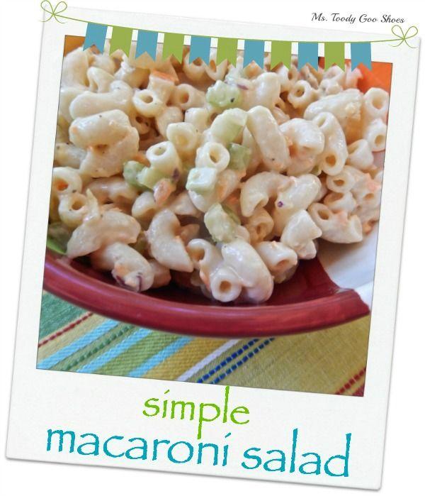 simple macaroni salad and welcome home simple macaroni salad