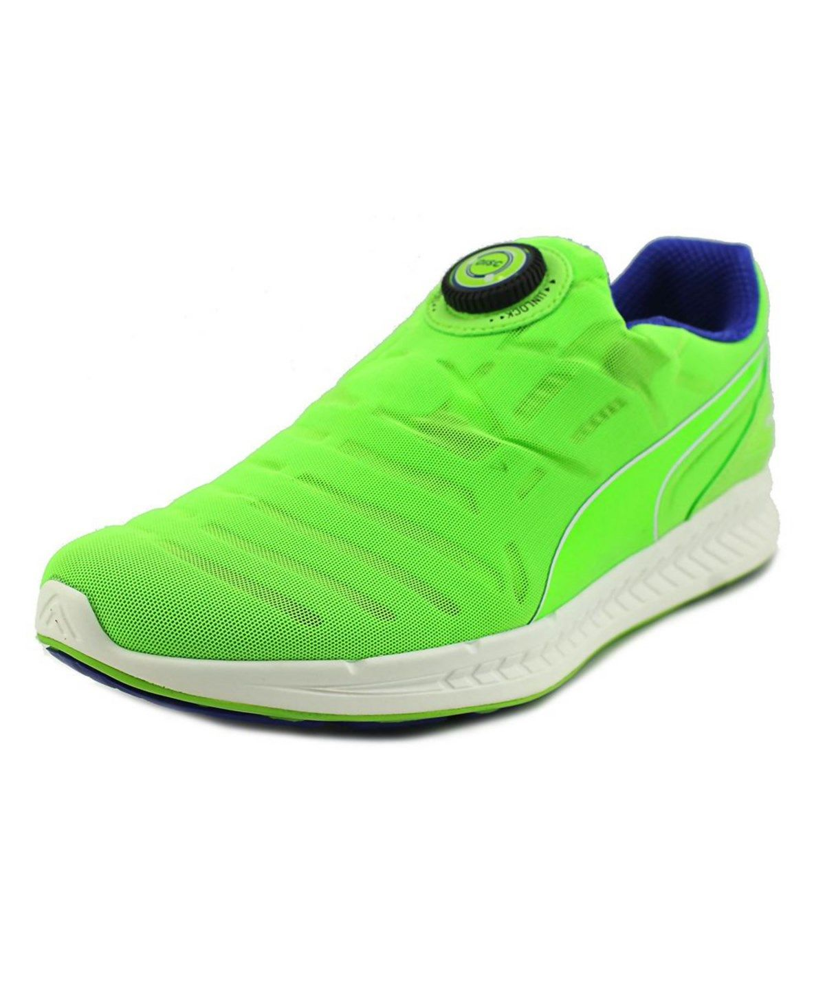 PUMA PUMA IGNITE DISC MEN ROUND TOE SYNTHETIC GREEN RUNNING