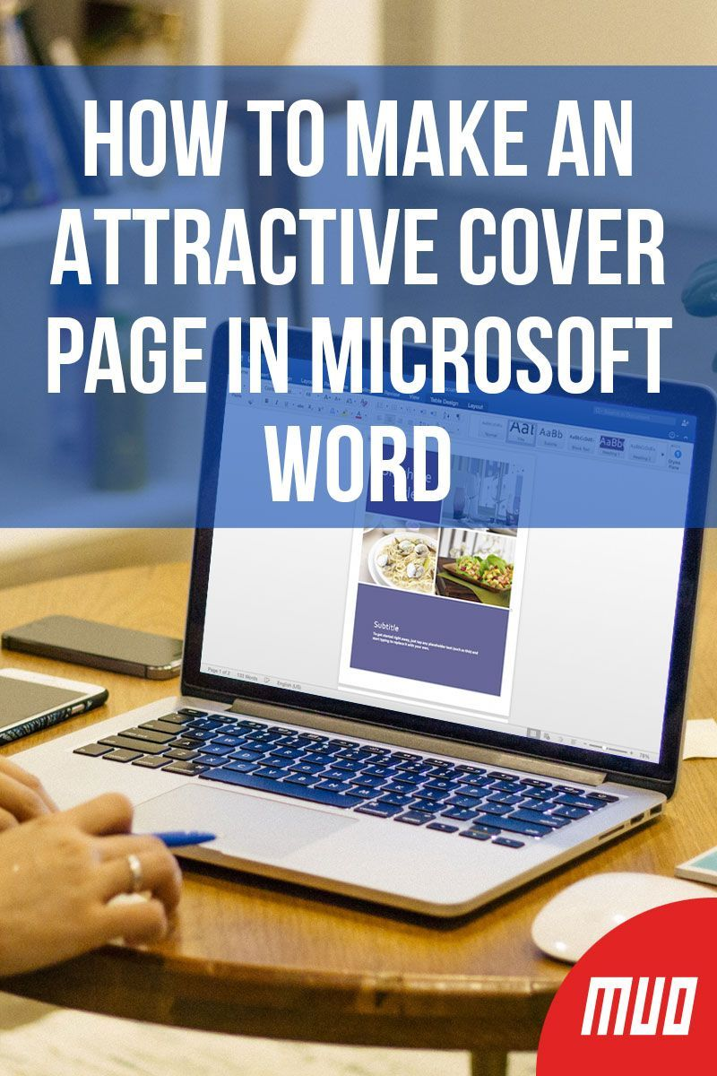 how to make a cover page that u2019s attractive in word