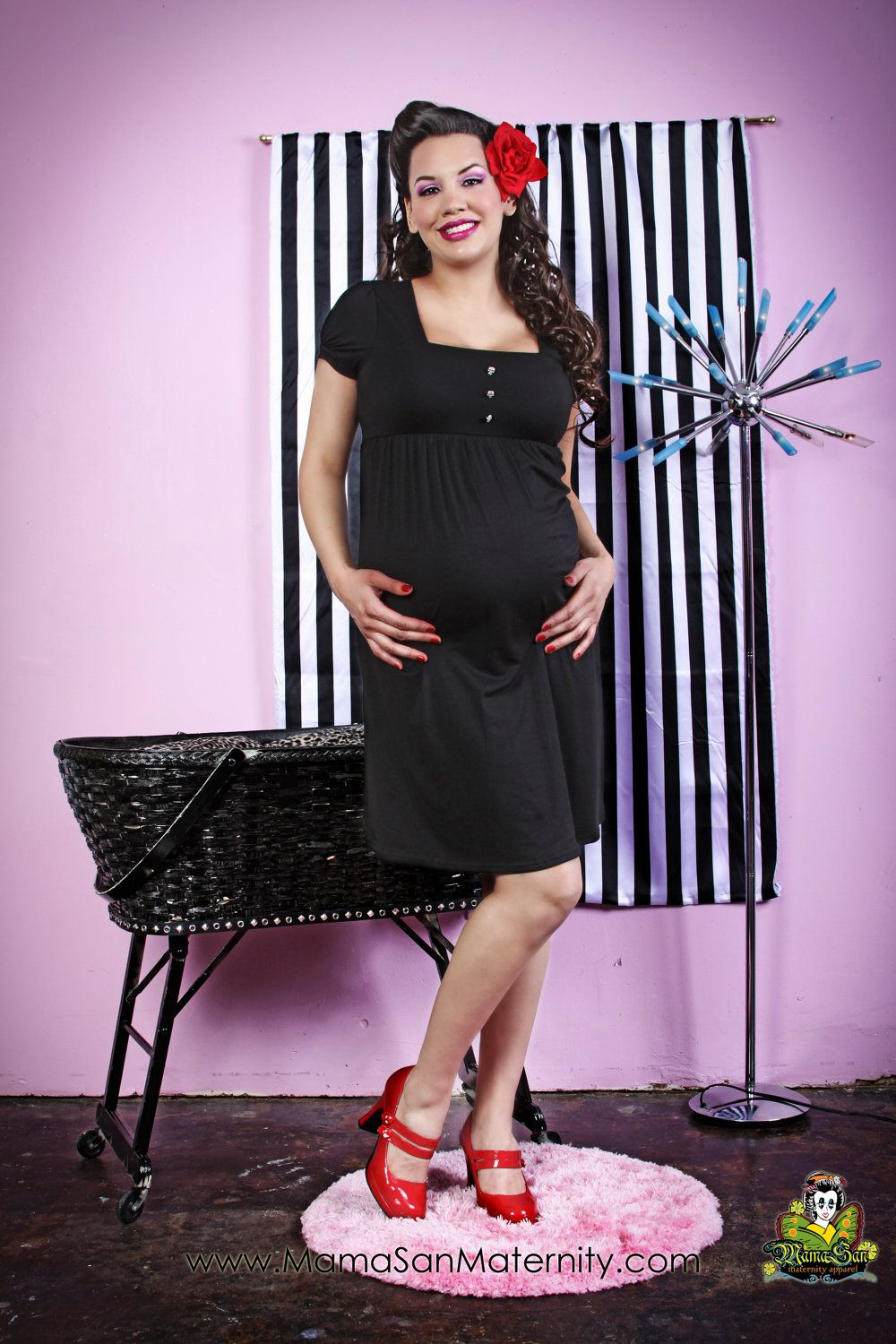 38d49f71166 Antique Skulls Goth Punk Maternity dress from MamaSan Maternity ...