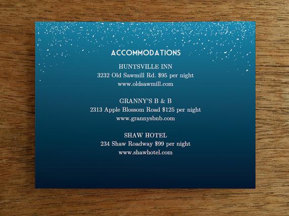 printable wedding card template starry night wedding information