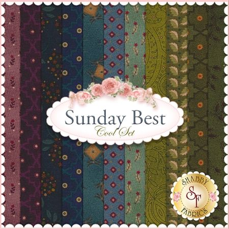 Sunday Best 11 FQ Set - Cool Set by by Kim Diehl for Henry Glass ... : best quilting fabric - Adamdwight.com