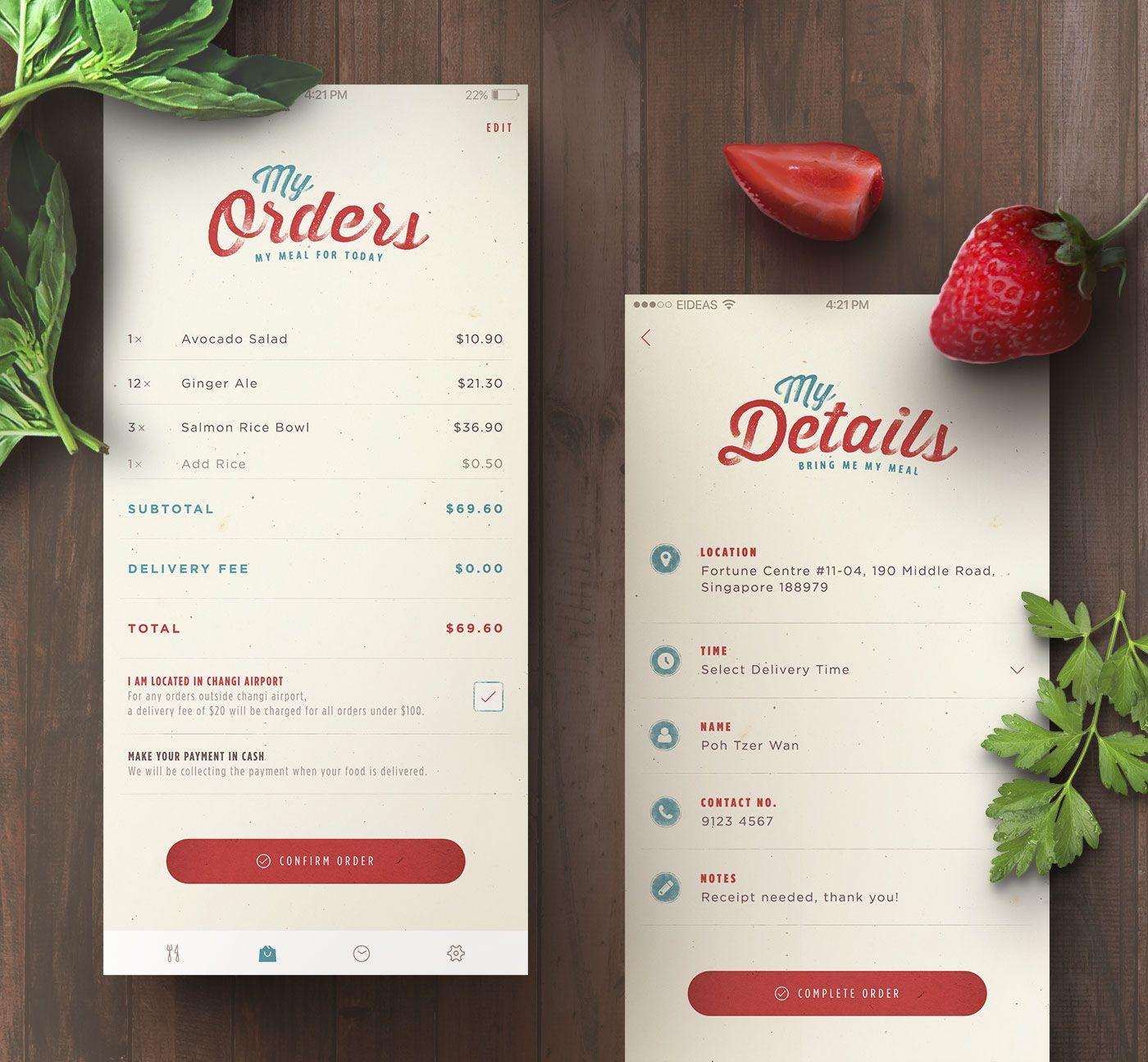 Happy Kitchen Food Delivery App on Behance | app | Pinterest | App ...
