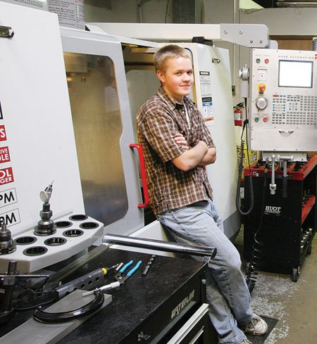 Haas CNC Machines Aid in Success of Young Machinist