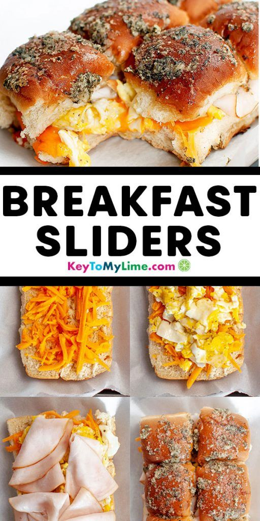 Easy Cheesy Breakfast Sliders for Game Day - Key To My Lime