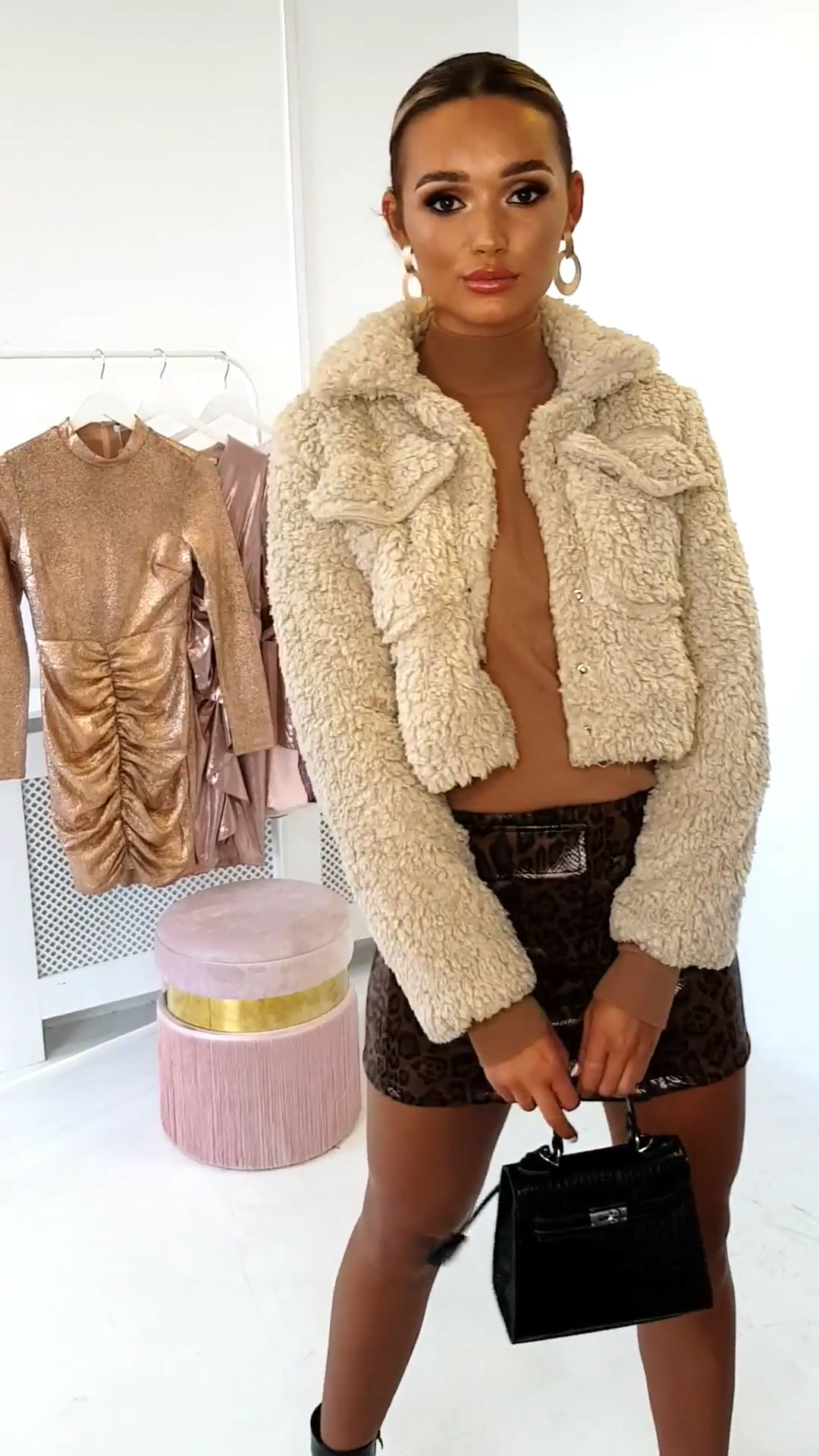 Photo of Cropped Jacket in Beige