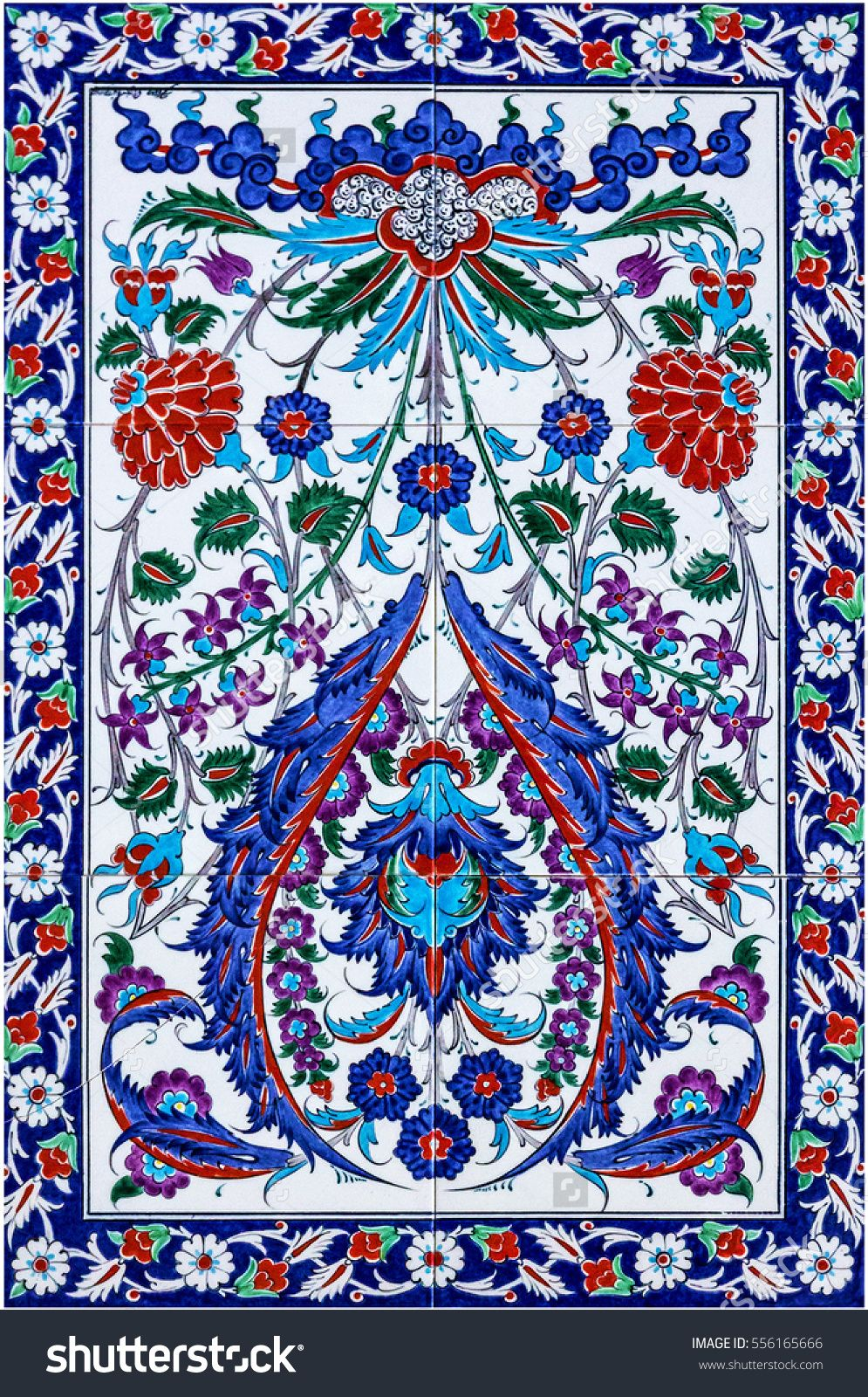 mosaic tile, decoration. Turkish oriental pattern | Turkish Tiles ...