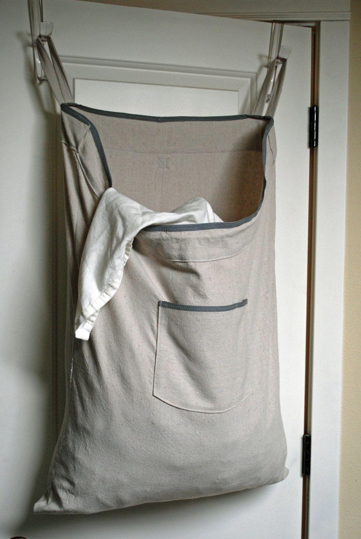 dorm room hanging hamper laundry bag -- drawstring bag with