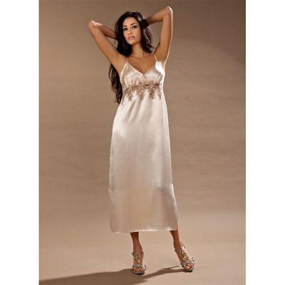 Photo of Nightdress of Pure Silk Narrow Shoulder Sciara Art.kathrin N…