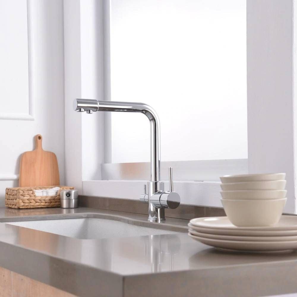3 Way Tap 304 Stainless Steel Drinking Water Faucet Water Filter