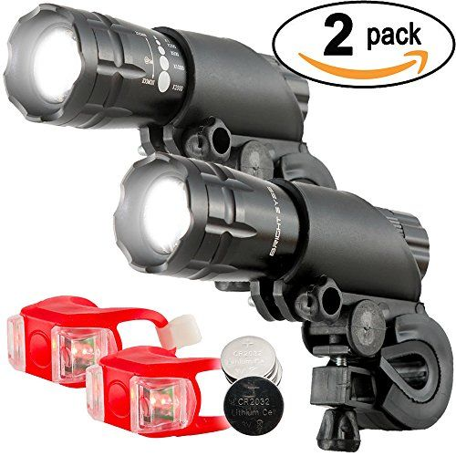 Bright Eyes Waterproof 300 Lumen LED Bike lights. Stay safe. http://amzn.to/2bSRLEE. Assume you cannot be seen. Protect those beautiful leg of yours :)