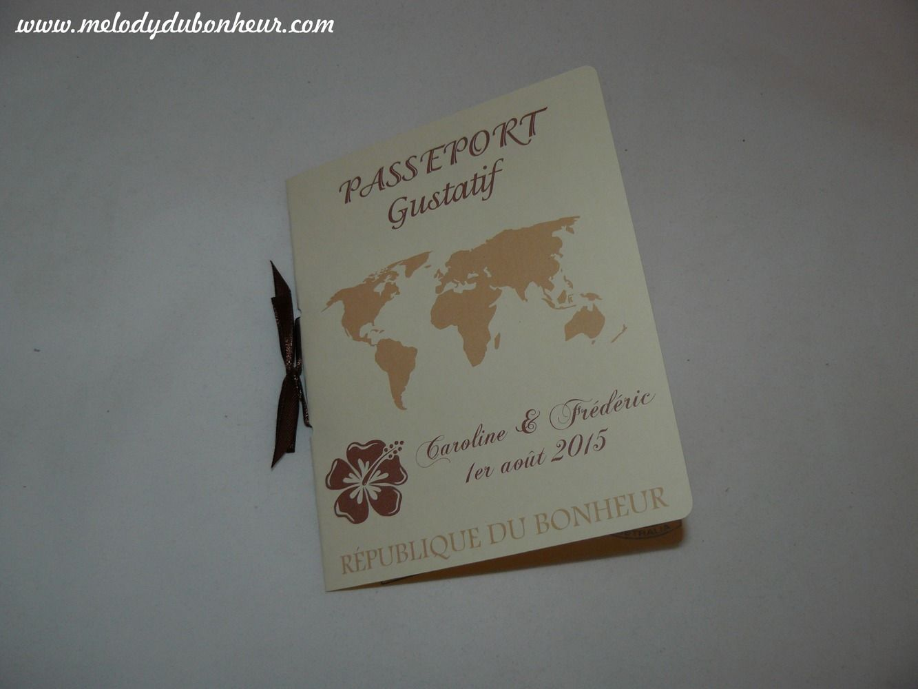 Favori Menu passeport pour mariage thème voyage : Autres papeterie par  KC27