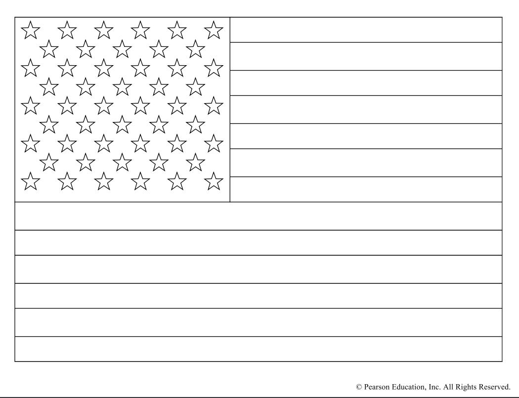 American Flag Coloring Page Printable