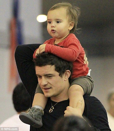 Daddy time! Orlando and Flynn Bloom <3