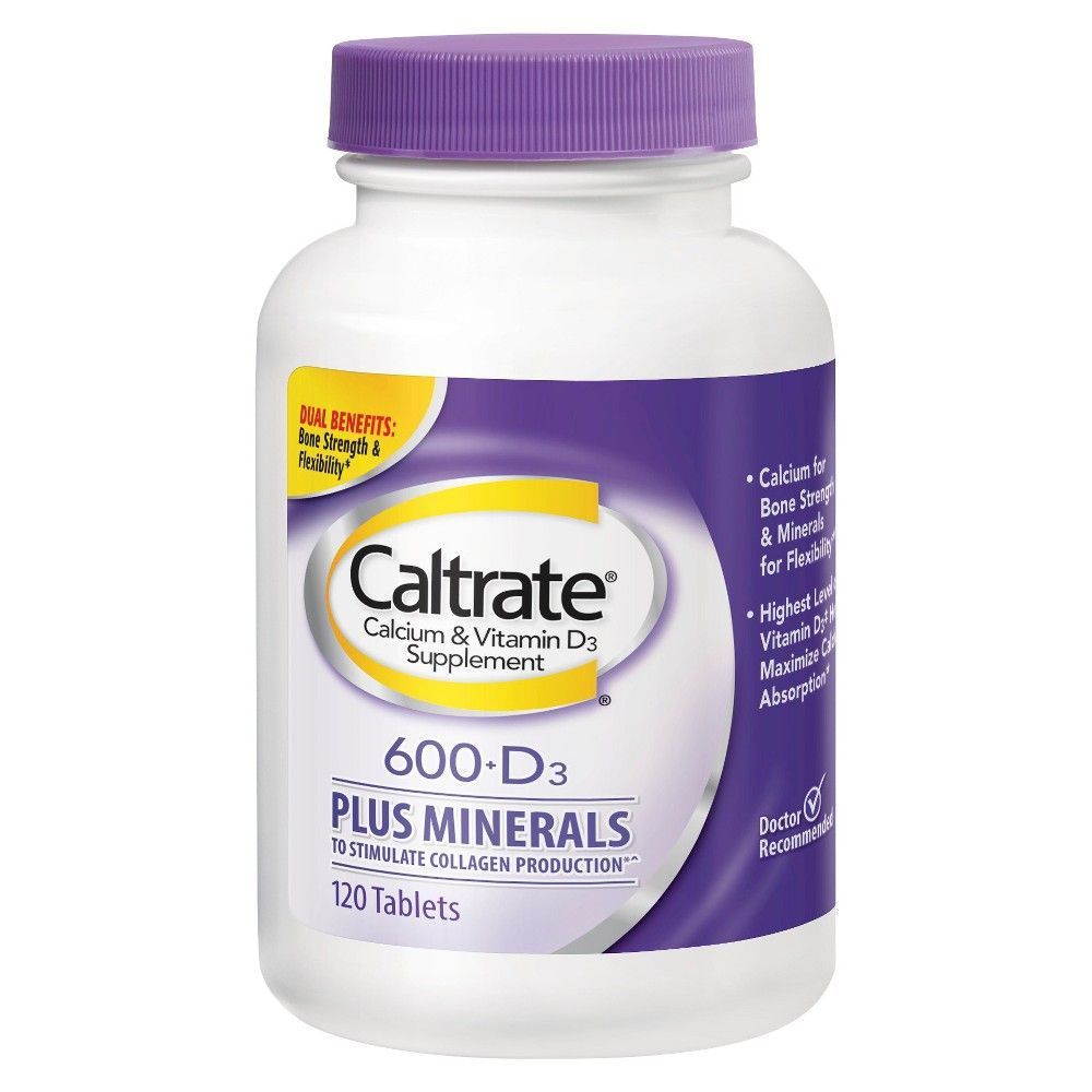 Caltrate Calcium Vitamin D3 Plus Minerals Supplement Tablets
