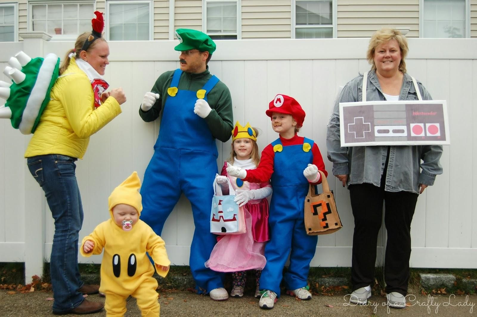 super mario brothers halloween family costume idea | dress like a