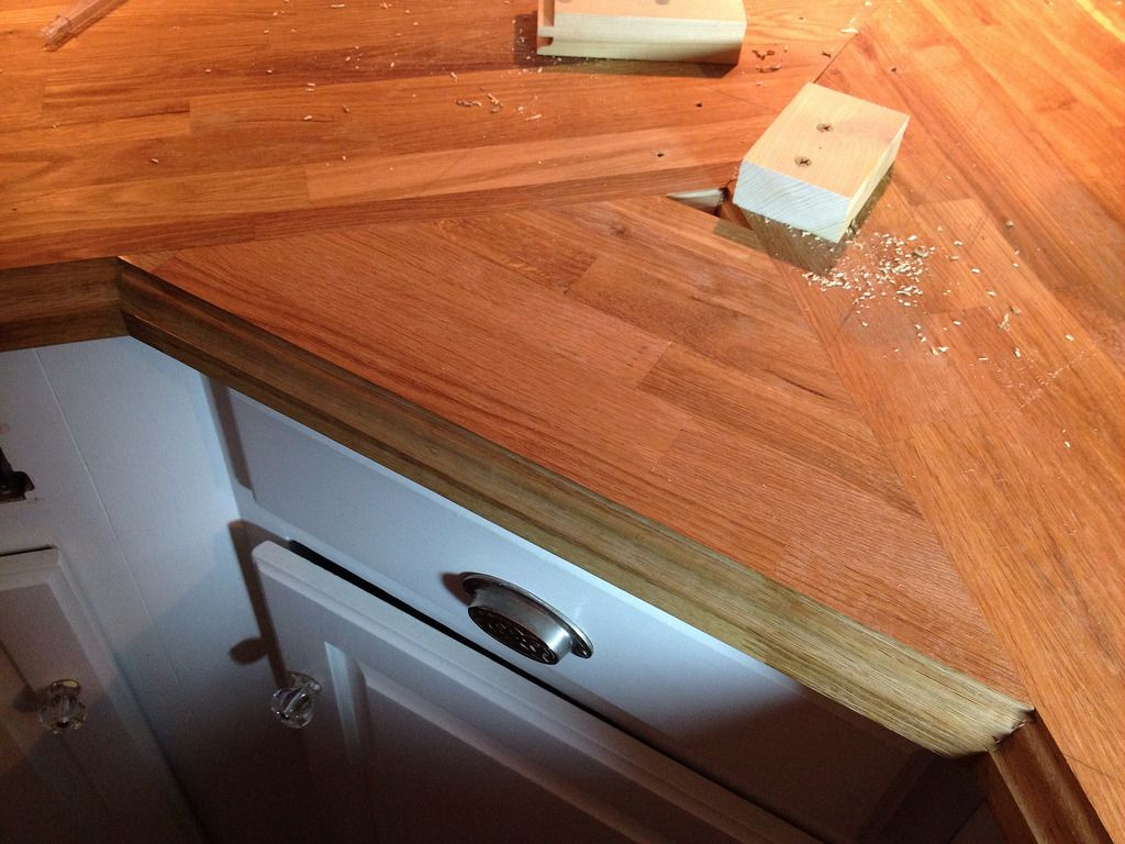 Stick A Fork In Them The Ikea Butcher Block Counters Are Done Old Town Home Ikea Butcher Block Butcher Block Counter Butcher Block
