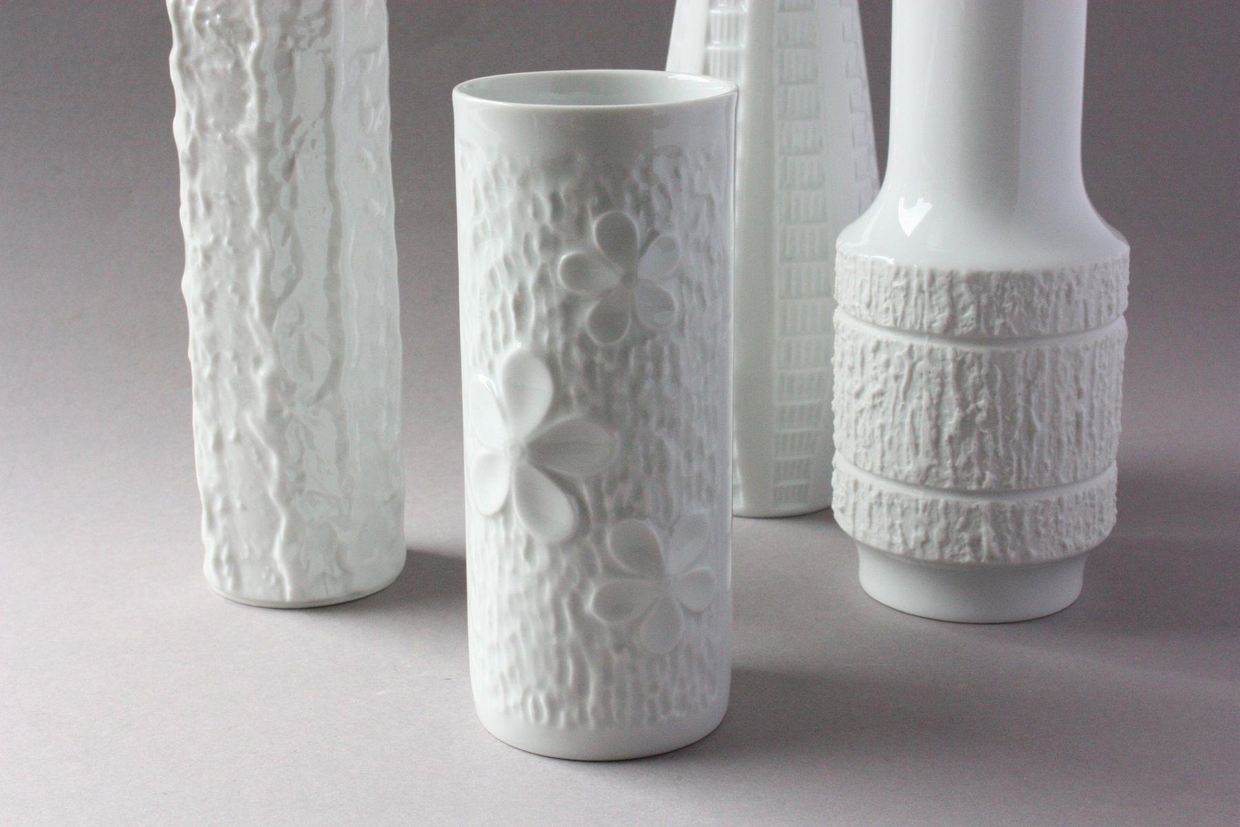 Mitterteich Vase Porzellan Weiss White Vintage Porcelain Vase