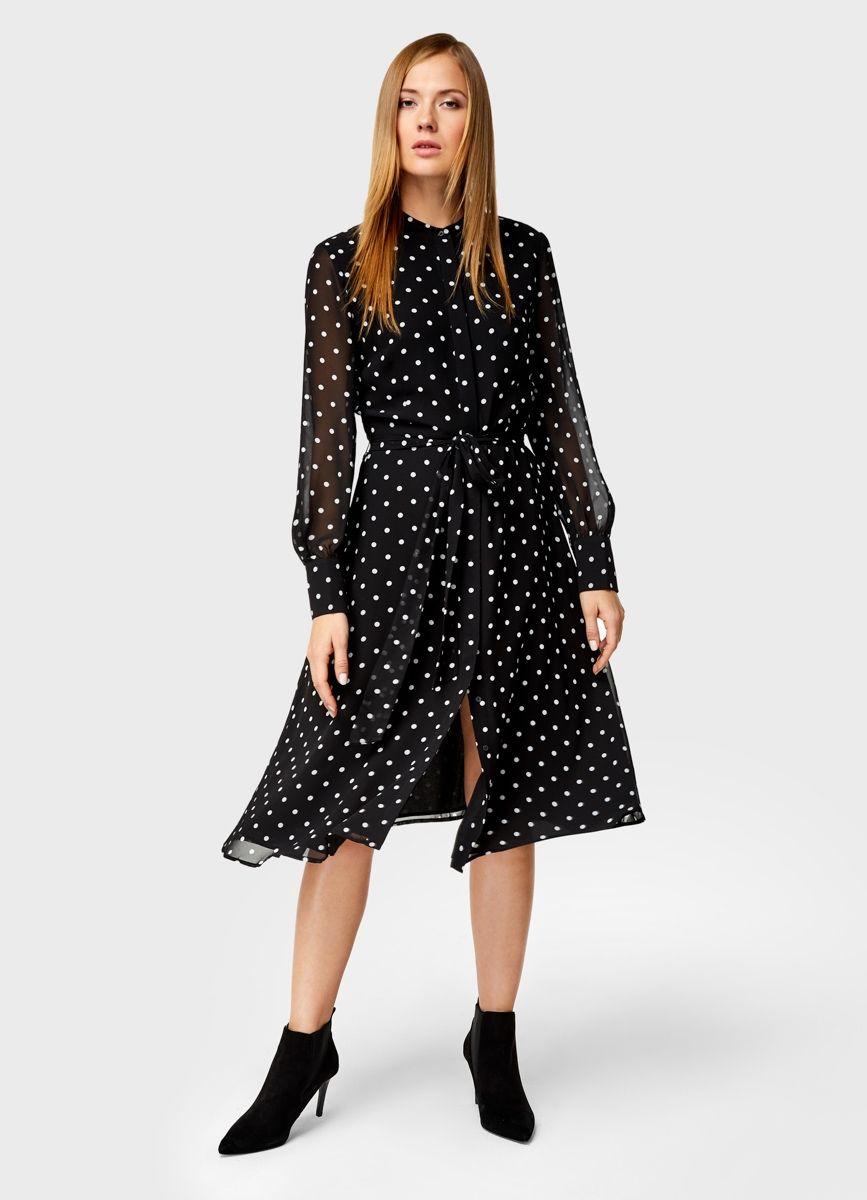 231a427e24635ee Платье из шифона в горох in 2019 | Look spring, summer | Платье из ...