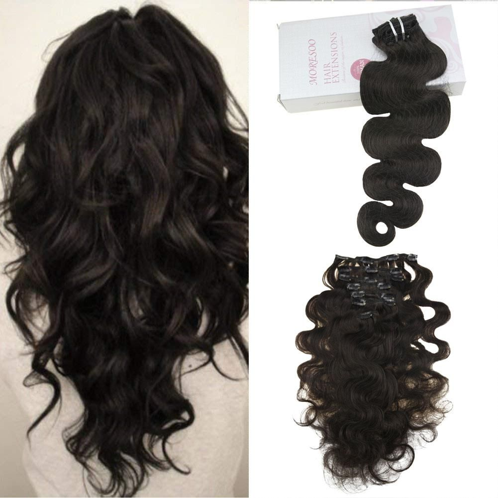 Moresoo 120g Clip In Body Wave Off Black 1B Brazilian