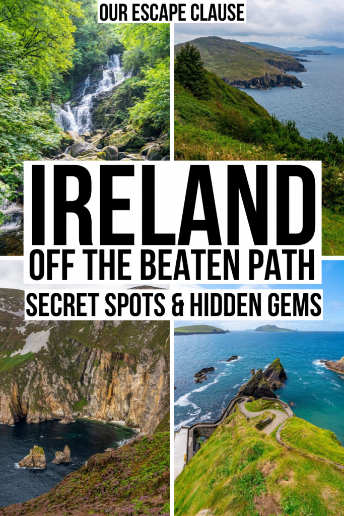 Ireland Off the Beaten Path: 17 Secret Spots + Hidden Gems #thingstodoinireland