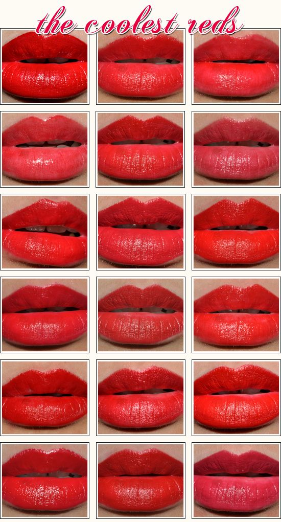 Scarlet Season Blue Based Reds Round Up Blue Based Red Lipstick Blue Tone Red Lipstick Red Lipstick Swatches