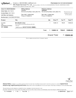 Flipkart Bill Pdf Generator Invoice Template Biodata Format Download Pdf